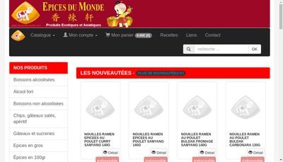 Site internet de Epices du Monde
