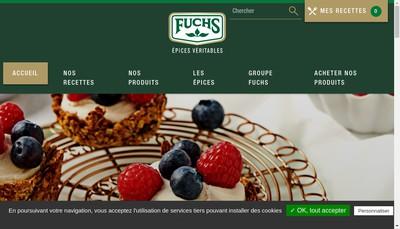 Site internet de Epices Fuchs SARL