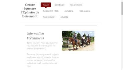 Site internet de L'Epinette de Boisemont