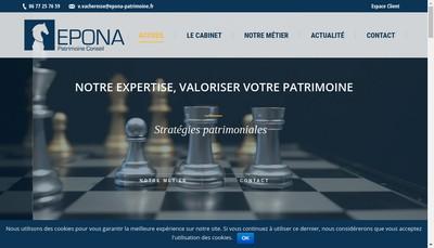 Site internet de Epona Patrimoine Conseil