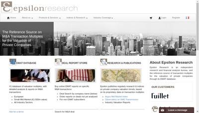Site internet de Epsilon Finance