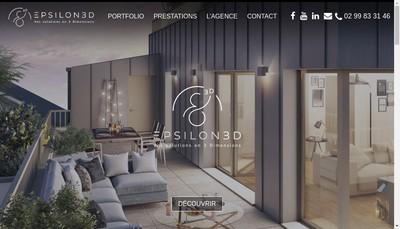Site internet de Epsilon 3 D