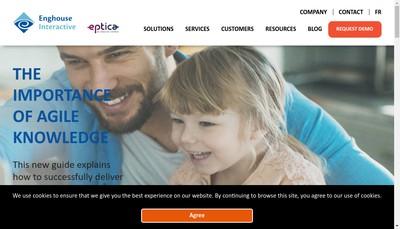 Site internet de Eptica