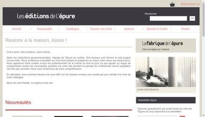 Site internet de La Fabrique de l'Epure