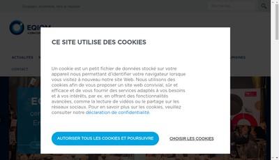 Site internet de Eqiom