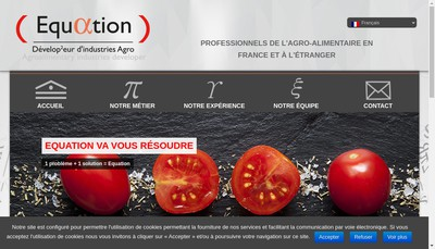 Site internet de Equation