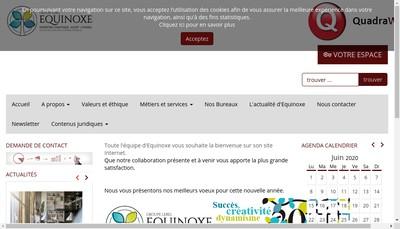 Site internet de Equinoxe