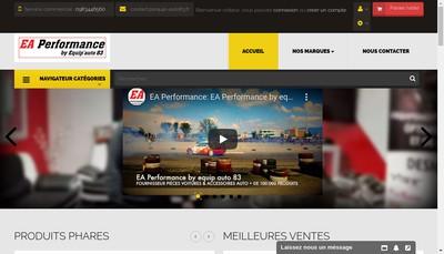 Site internet de Ea Performance By Equip Auto 83