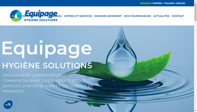 Site internet de Equipage Cap sur l'Hygiene