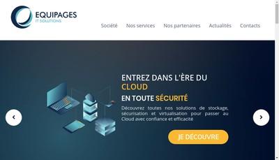 Site internet de Equipages