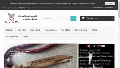 Site internet de Equip'Etho