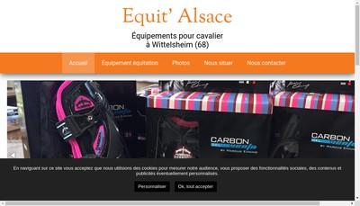 Site internet de Equit'Alsace