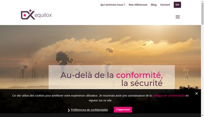 Site internet de Equitox