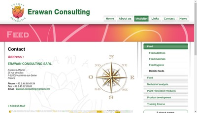 Site internet de Erawan Consulting