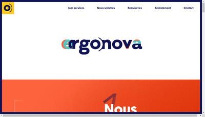 Site internet de Ergonova Groupe