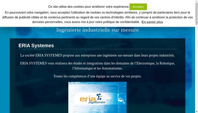 Site internet de Eria Systemes