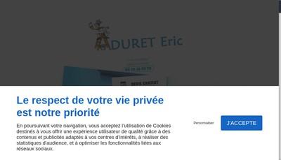 Site internet de Duret Eric