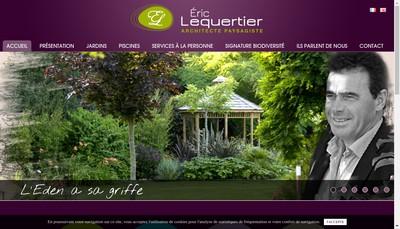Site internet de SA Lequertier Eric
