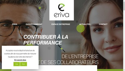 Site internet de Eriva Rh