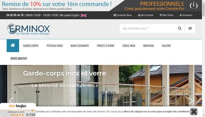Site internet de Erminox