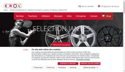 Site internet de Erol
