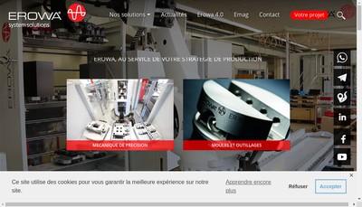 Site internet de Erowa Distribution France