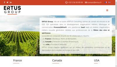 Site internet de Ertus Group