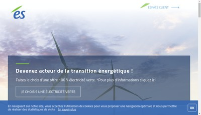 Site internet de Electricite de Strasbourg