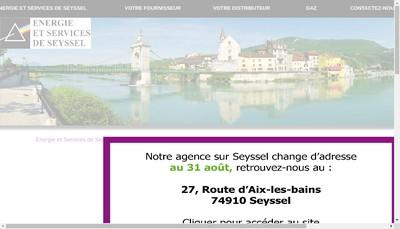 Site internet de Energie et Services de Seyssel