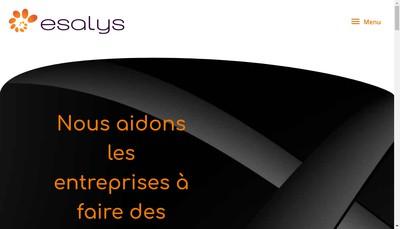 Site internet de Esalys