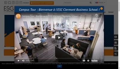 Site internet de Groupe Esc Clermont - Auvergne