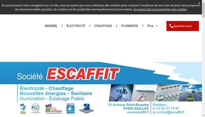 Site internet de Escaffit