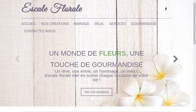Site internet de Escale Florale