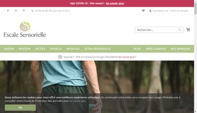 Site internet de Escale Sensorielle