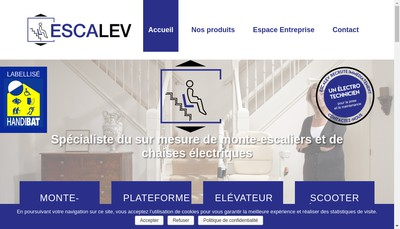 Site internet de Escalev