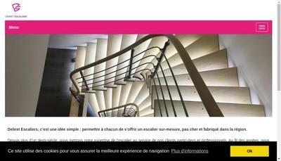 Site internet de Debret Escaliers