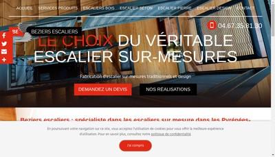 Site internet de SARL Beziers Escaliers