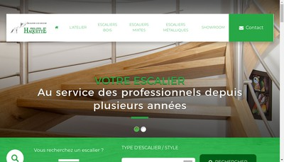 Site internet de Escaliers Haquette