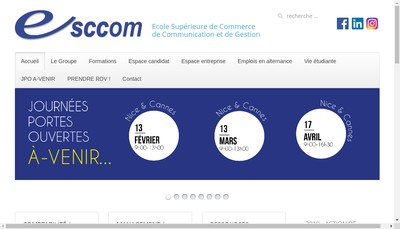 Site internet de Ecole Superieure Commerce Communication