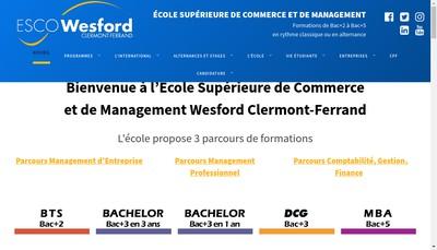 Site internet de Esco Wesford Auvergne
