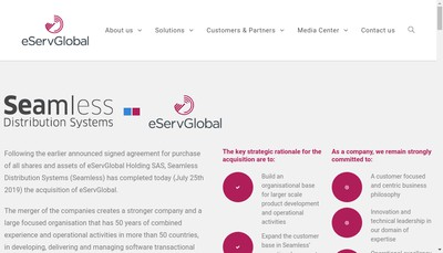 Site internet de Eservglobal SAS