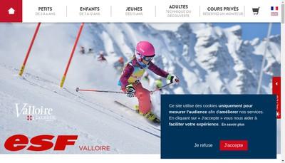Site internet de Ski Ecole de Valloire