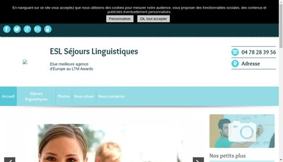 Site internet de Esl Education SAS (France)