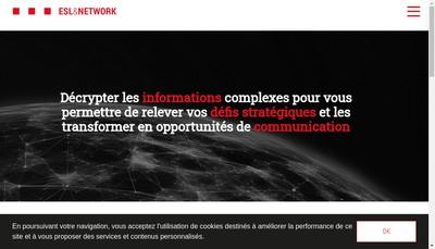 Site internet de Esl & Network (Holding) SA