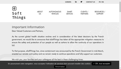 Site internet de Esoftthings