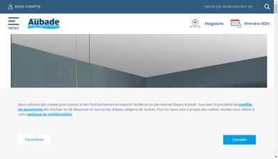 Site internet de Comptoir des Fers et Espace Aubade