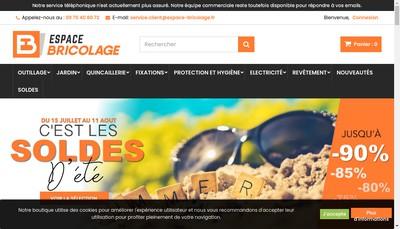 Site internet de Espace-Bricolage Fr