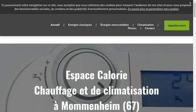 Site internet de Espace Calories