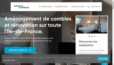 Site internet de Espace Combles 78