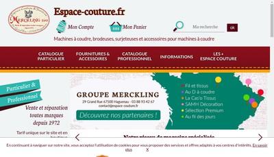 Site internet de Espace Couture et Services